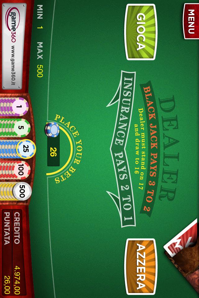 Screenshot BlackJack Game360